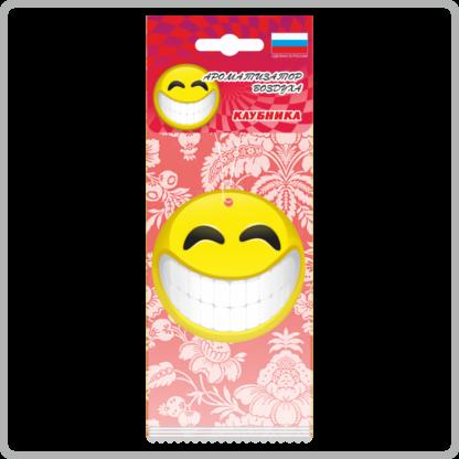 Картонные ароматизаторы (освежители) «Смайлы» — Клубника 8