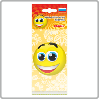 Картонные ароматизаторы (освежители) «Смайлы» — Клубника 13